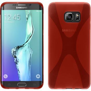 Silikonhülle für Samsung Galaxy S6 Edge Plus X-Style rot