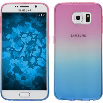 Silikon Hülle Galaxy S6 Ombrè Design:06 + 2 Schutzfolien
