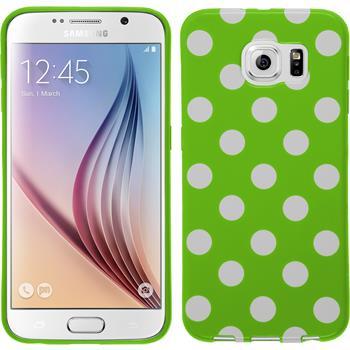 Silikon Hülle Galaxy S6 Polkadot Design:05