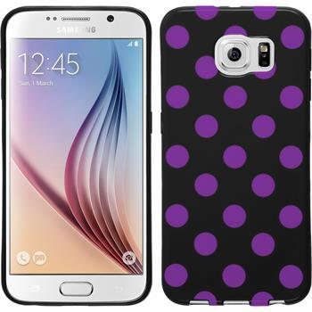 Silikon Hülle Galaxy S6 Polkadot Design:07