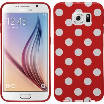 Silikon Hülle Galaxy S6 Polkadot Design:09