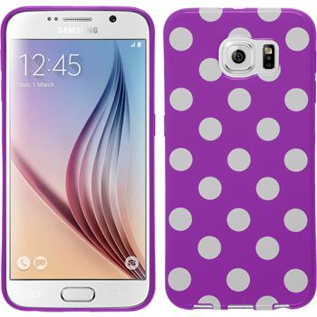 Silikon Hülle Galaxy S6 Polkadot Design:11
