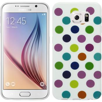 Silikon Hülle Galaxy S6 Polkadot Design:12