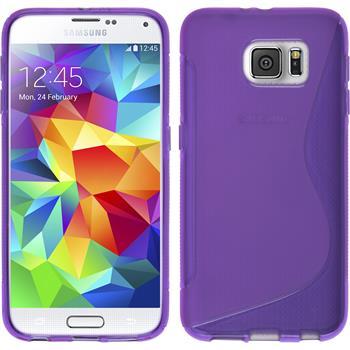Silikon Hülle Galaxy S6 S-Style lila