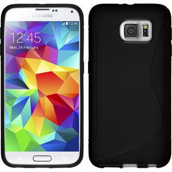 Silikon Hülle Galaxy S6 S-Style schwarz Case