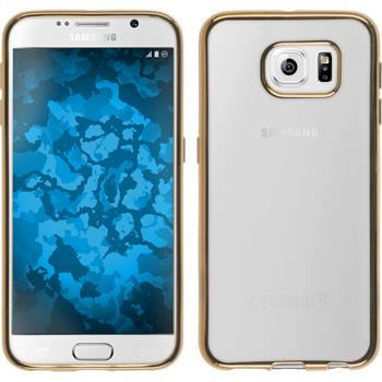 Silikon Hülle Galaxy S6 Slim Fit gold