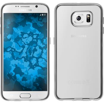 Silikon Hülle Galaxy S6 Slim Fit silber