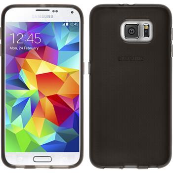 Silikon Hülle Galaxy S6 transparent schwarz