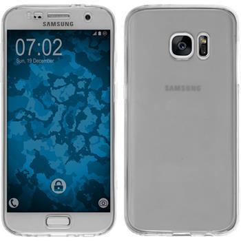 Silikon Hülle Galaxy S7 360° Fullbody grau