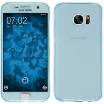 Silikonhülle für Samsung Galaxy S7 360° Fullbody hellblau