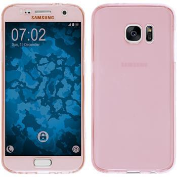 Silikonhülle für Samsung Galaxy S7 360° Fullbody rosa