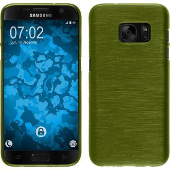Silikon Hülle Galaxy S7 brushed pastellgrün