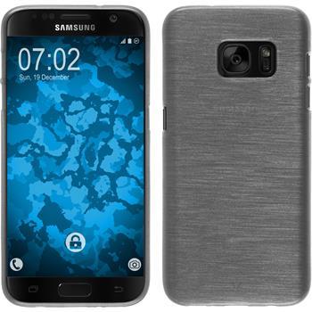 Silikon Hülle Galaxy S7 brushed weiß