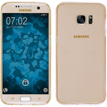 Silikon Hülle Galaxy S7 Edge 360° Fullbody gold