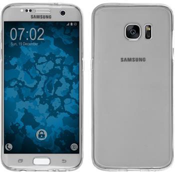 Silikon Hülle Galaxy S7 Edge 360° Fullbody grau