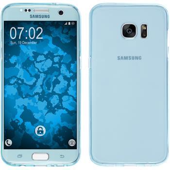 Silikon Hülle Galaxy S7 Edge 360° Fullbody hellblau