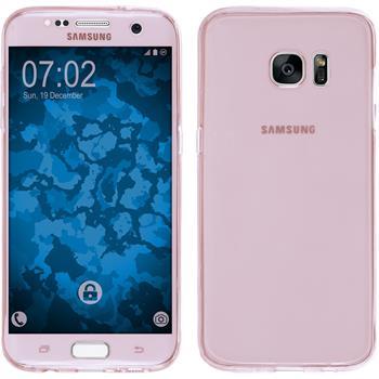 Silikon Hülle Galaxy S7 Edge 360° Fullbody rosa