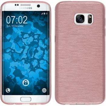 Silikon Hülle Galaxy S7 Edge brushed rosa