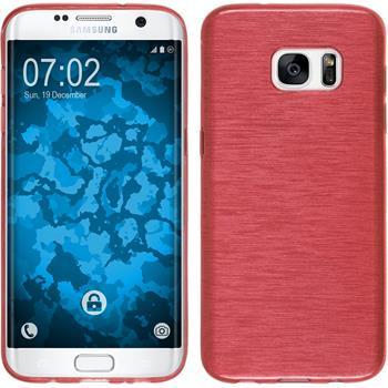 Silikon Hülle Galaxy S7 Edge brushed rot Case