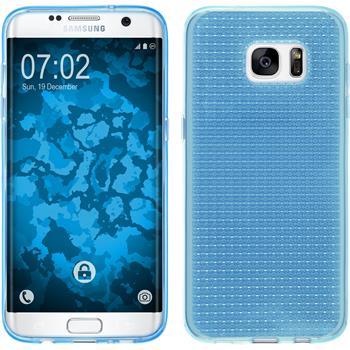 Silikon Hülle Galaxy S7 Edge Iced hellblau Case