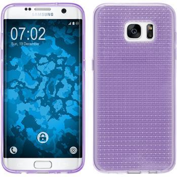 Silikon Hülle Galaxy S7 Edge Iced lila