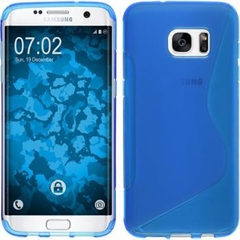 Silikonhülle für Samsung Galaxy S7 Edge S-Style blau