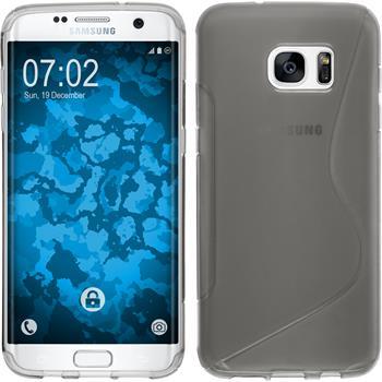 Silikonhülle für Samsung Galaxy S7 Edge S-Style grau