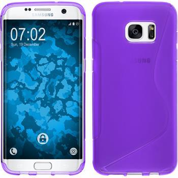 Silikon Hülle Galaxy S7 Edge S-Style lila