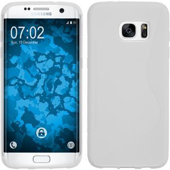 Silikon Hülle Galaxy S7 Edge S-Style weiß
