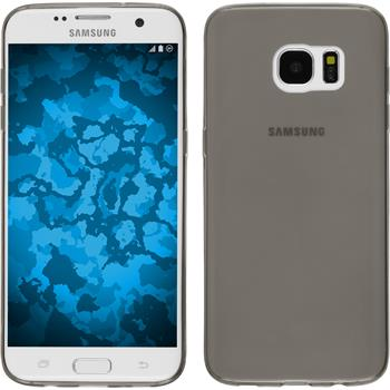 Silikon Hülle Galaxy S7 Edge Slimcase grau