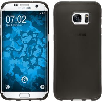 Silikon Hülle Galaxy S7 Edge transparent schwarz Case
