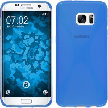 Silikon Hülle Galaxy S7 Edge X-Style blau