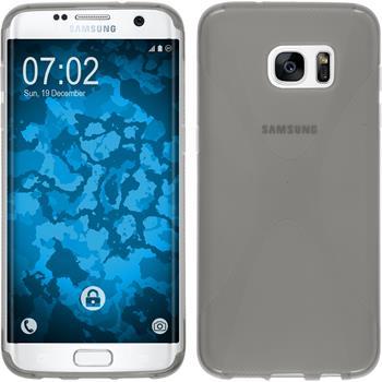 Silikon Hülle Galaxy S7 Edge X-Style grau