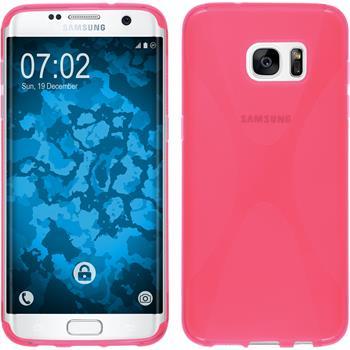 Silikon Hülle Galaxy S7 Edge X-Style pink