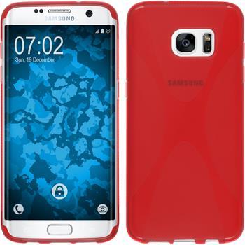 Silikon Hülle Galaxy S7 Edge X-Style rot