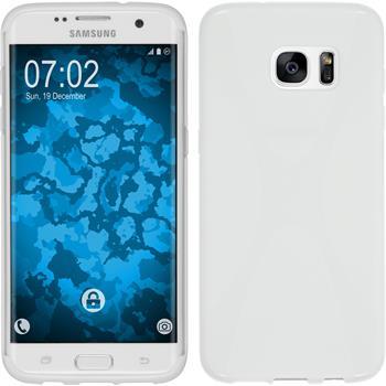 Silikonhülle für Samsung Galaxy S7 Edge X-Style weiß
