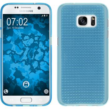 Silikon Hülle Galaxy S7 Iced hellblau