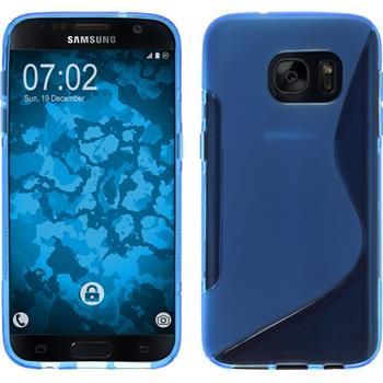 Silikon Hülle Galaxy S7 S-Style blau