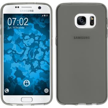 Silikon Hülle Galaxy S7 transparent schwarz
