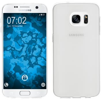 Silikonhülle für Samsung Galaxy S7 transparent weiß