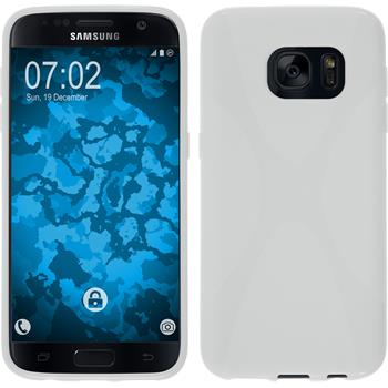 Silikon Hülle Galaxy S7 X-Style weiß