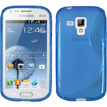 Silicone Case for Samsung Galaxy S Duos S-Style blue