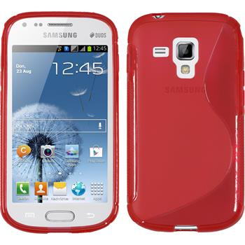 Silicone Case for Samsung Galaxy S Duos S-Style red