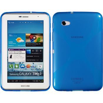 Silicone Case for Samsung Galaxy Tab 2 7.0 X-Style blue