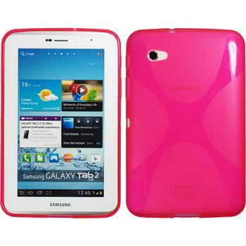 Silikonhülle für Samsung Galaxy Tab 2 7.0 X-Style pink