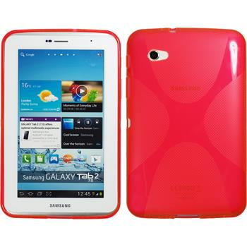Silicone Case for Samsung Galaxy Tab 2 7.0 X-Style red