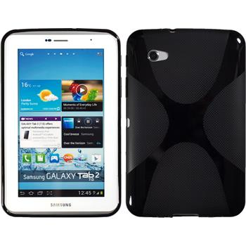 Silikonhülle für Samsung Galaxy Tab 2 7.0 X-Style schwarz