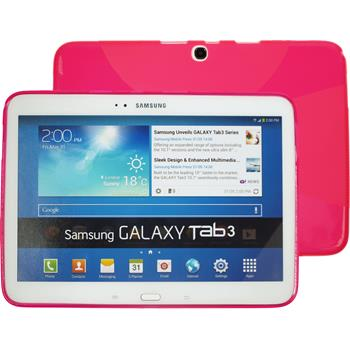 Silicone Case for Samsung Galaxy Tab 3 10.1 X-Style hot pink