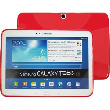 Silicone Case for Samsung Galaxy Tab 3 10.1 X-Style red