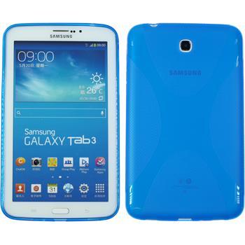 Silicone Case for Samsung Galaxy Tab 3 7.0 X-Style blue